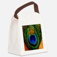Peacock Canvas Lunch Bag