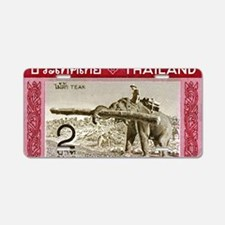 1968 Thailand Working Eleph Aluminum License Plate