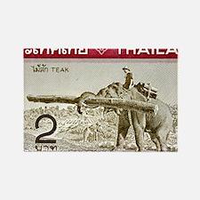 1968 Thailand Working Elephant Po Rectangle Magnet