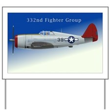 332 Fighter Group P-47C Blue Sky Yard Sign