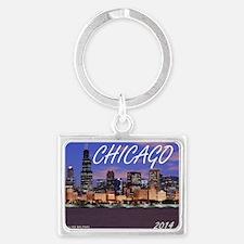 chicago 2014 Landscape Keychain