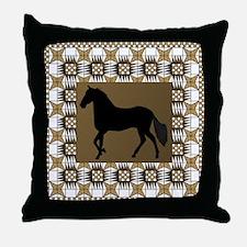 Paso Brown Throw Pillow