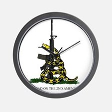 Gadsden Flag - 2nd Amendment Wall Clock