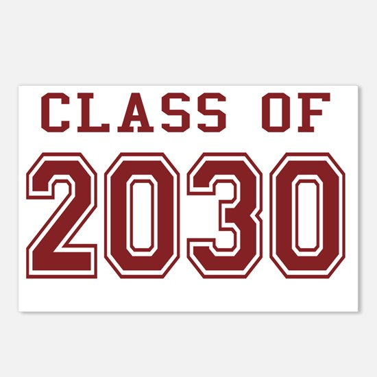 Class of 2030 (Red) Postcards (Package of 8)