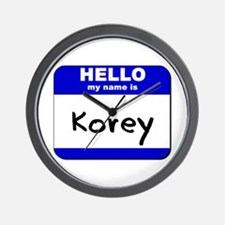 hello my name is korey  Wall Clock