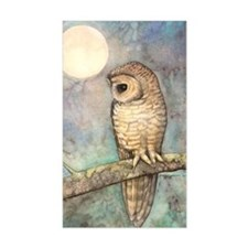 Brown Spotted Owl Watercolor A Decal