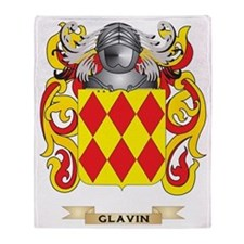 Glavin Coat of Arms (Family Crest) Throw Blanket