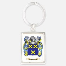 Glanville Coat of Arms (Family C Portrait Keychain