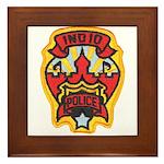Indio Police Framed Tile