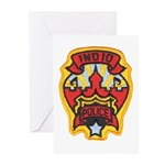 Indio Police Greeting Cards (Pk of 10)