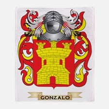 Gonzalo Coat of Arms (Family Crest) Throw Blanket