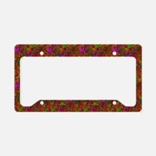 Colorful Rainbow Glitz License Plate Holder