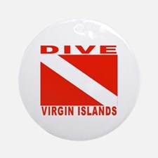 Dive Virgin Islands Ornament (Round)