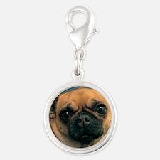 Chug Dog Dunkie Silver Round Charm