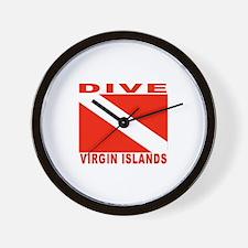Dive Virgin Islands Wall Clock