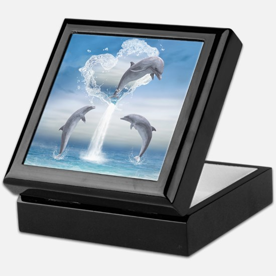 The Heart Of The Dolphins Keepsake Box