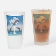 The Heart Of The Dolphins Drinking Glass