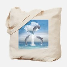 The Heart Of The Dolphins Tote Bag