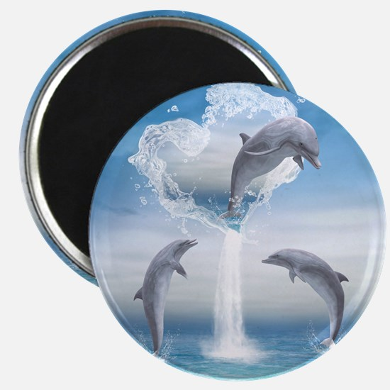 The Heart Of The Dolphins Magnet