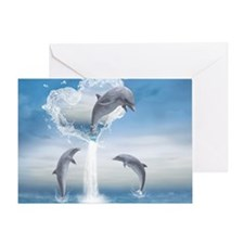 The Heart Of The Dolphins Greeting Card