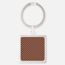 Elegant Medieval Red and Gold Square Keychain
