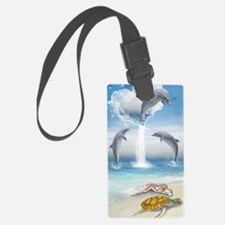 The Heart Of The Dolphins Luggage Tag