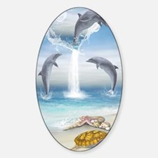 The Heart Of The Dolphins Sticker (Oval)