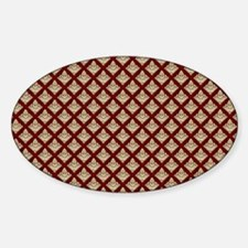 Elegant Medieval Red and Gold Sticker (Oval)