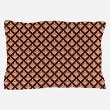 Elegant Medieval Red and Gold Pillow Case