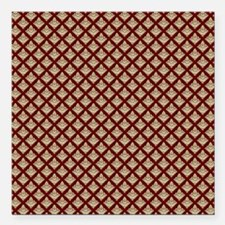 "Elegant Medieval Red and Square Car Magnet 3"" x 3"""