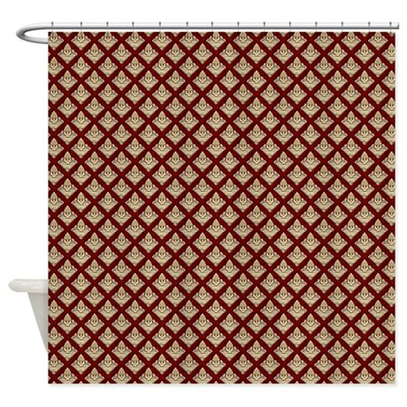 Elegant Medieval Red And Gold Shower Curtain By Admin
