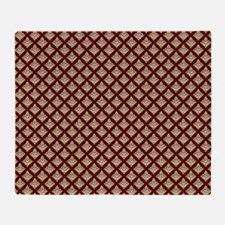 Elegant Medieval Red and Gold Throw Blanket