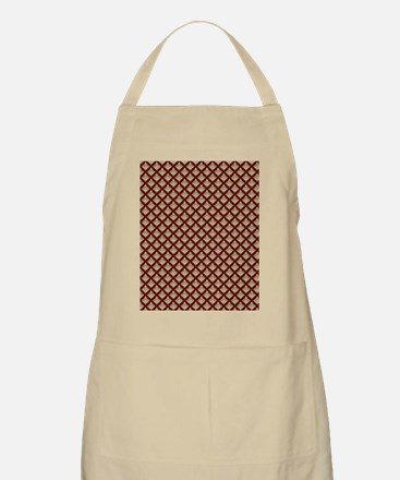Elegant Medieval Red and Gold Apron
