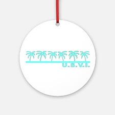 U.S.V.I. Ornament (Round)