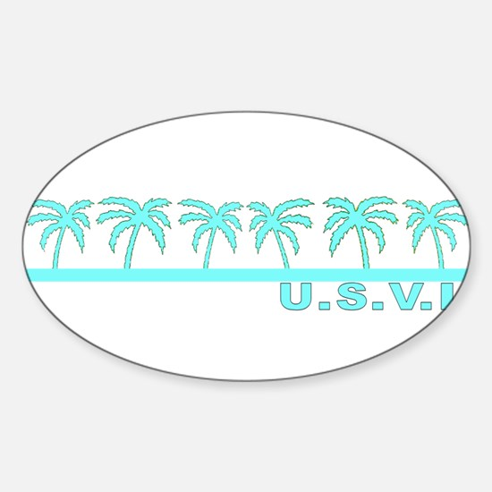 U.S.V.I. Oval Decal