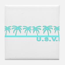 U.S.V.I. Tile Coaster