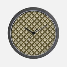 Elegant Medieval Olive Green Wall Clock