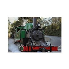 Puffing Billy at road crossing Rectangle Magnet