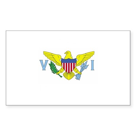 Virgin Islands Flag Rectangle Sticker