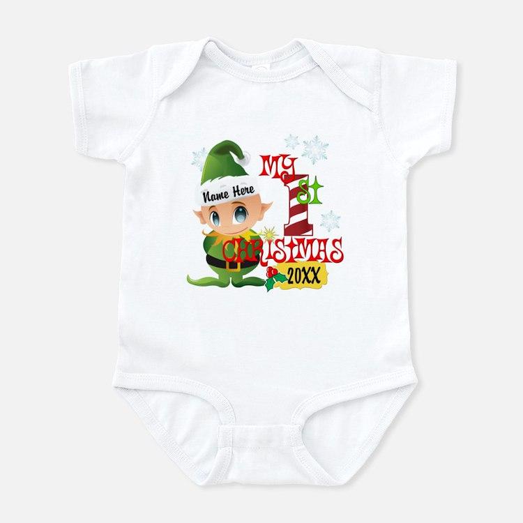 Baby Elf 1st Christmas Onesie