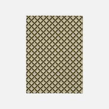Elegant Medieval Olive Green 5'x7'Area Rug