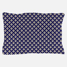 Elegant Medieval Blue and Gold Pillow Case
