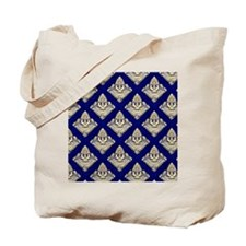 Elegant Medieval Blue and Gold Tote Bag