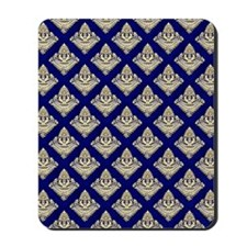 Elegant Medieval Blue and Gold Mousepad