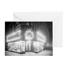 Corner Store At Night Greeting Card