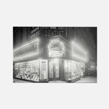Corner Store At Night Rectangle Magnet