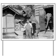 Elephant Performs a Trick Yard Sign