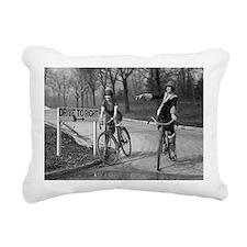 Flapper Girls Riding Bic Rectangular Canvas Pillow
