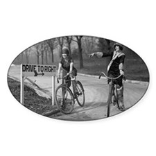 Flapper Girls Riding Bicycles Decal