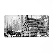 Hauling a Load of Logs Aluminum License Plate